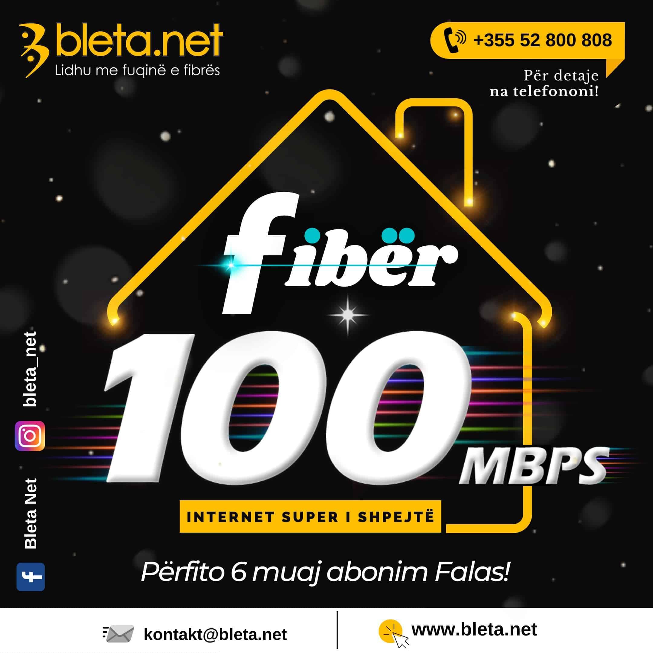 Me shume shpejtesi dhe me shume muaj FALAS ! 🎉 Super Oferta : Internet 100 Mbps - paguaj 6 muaj dhe perfito 6 muaj Falas!